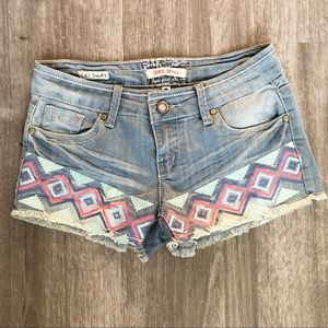 Hot Kiss CiCi Jean Shorts Embroidered/Printed 3